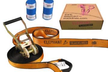 Slackline Testbericht: orange Wing 15 Meter Komplett Set - Elephant Slackline - für Anfänger geeignet